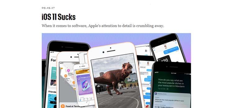 iOS 11 Sucks