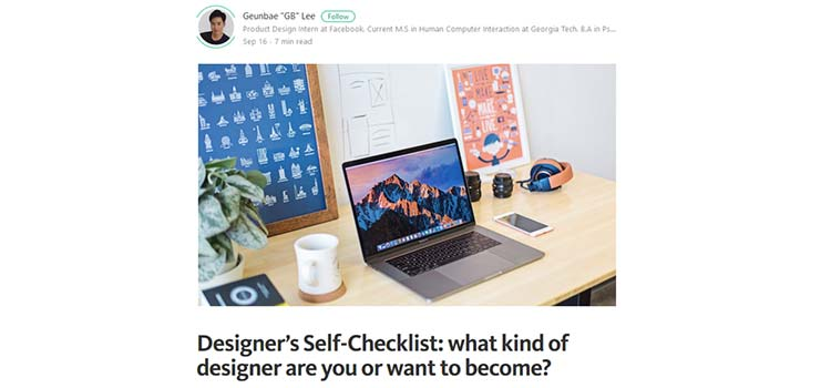 Designer's Self-Checklist: what kind of designer are you or want to become?