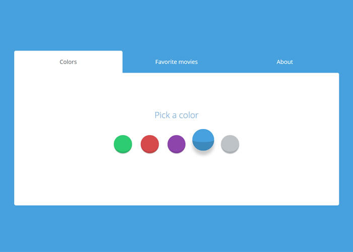 9 Simple CSS & JS Snippets for Creating Beautiful Tabs