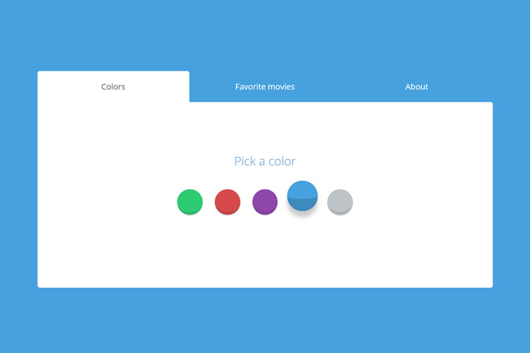 10 Simple CSS & JS Snippets for Creating Beautiful Tabs