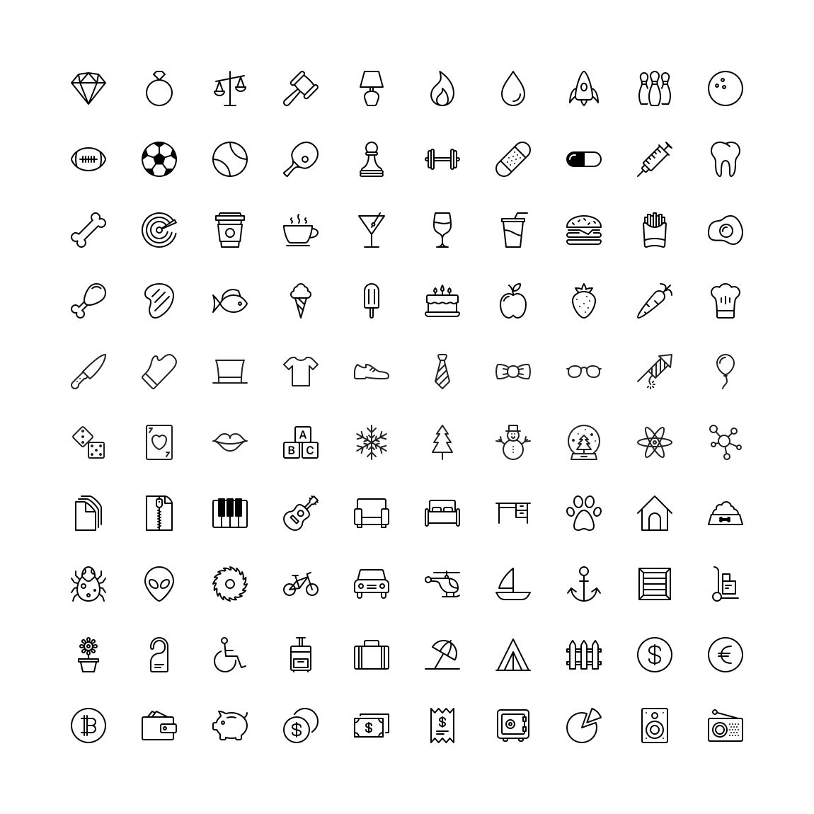 Free Funkies Flat outline Icon Set png svg illustrator