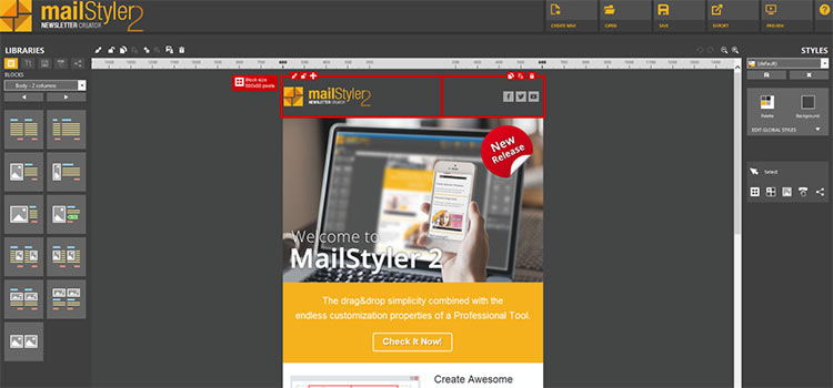 MailStyler 2 Customizable Blocks