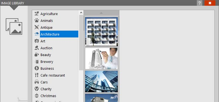 Access to Image Libraries with MailStyler 2