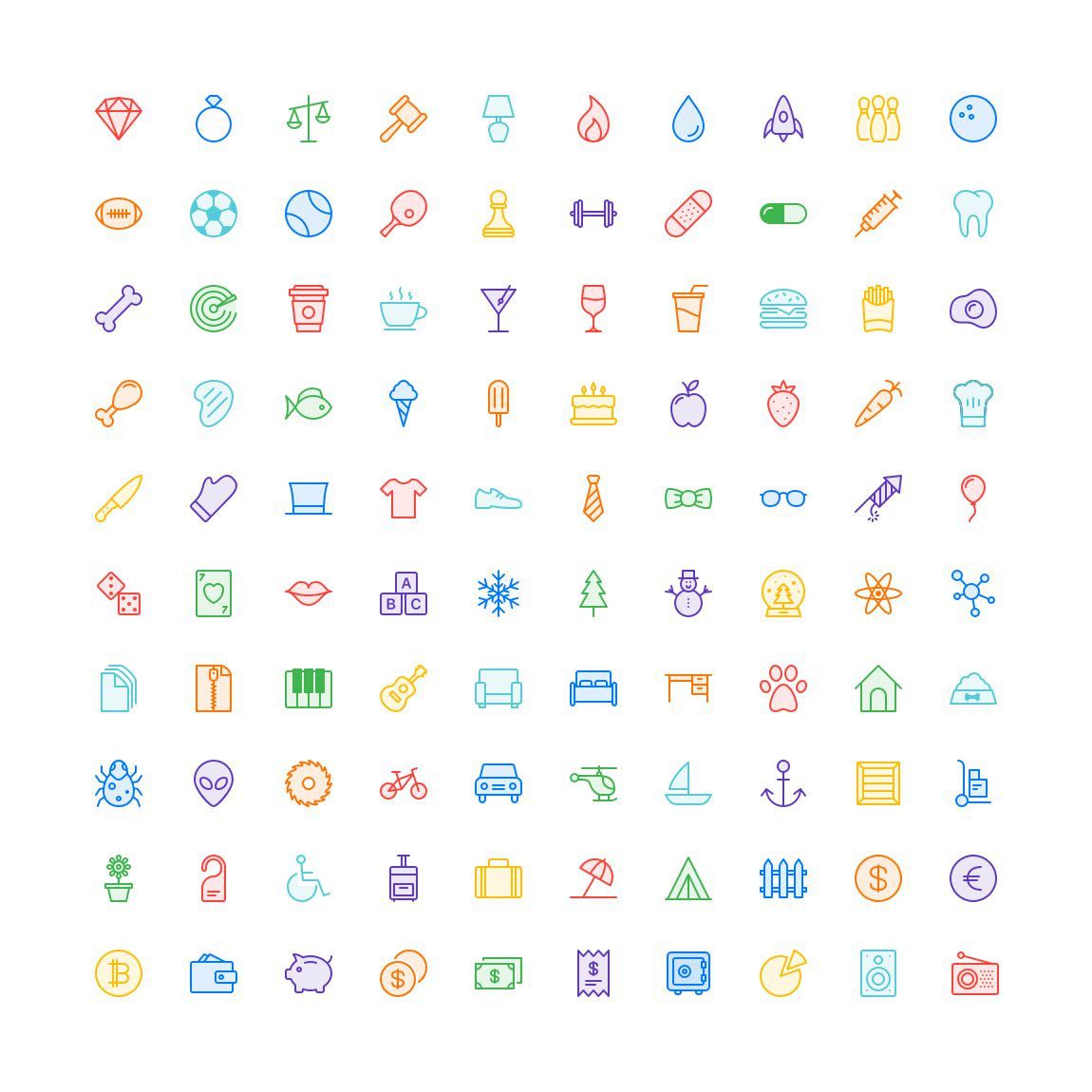 Free Funkies Subtle Color Icon Set png svg illustrator
