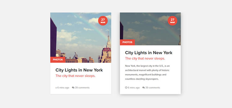 10 Free Snippets for Creating CSS Content Cards