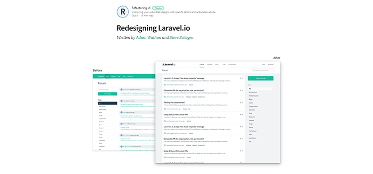 Redesigning Laravel.io