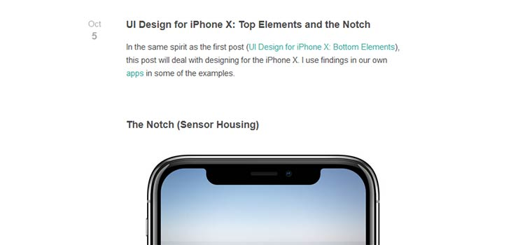 UI Design for iPhone X: Top Elements and the Notch
