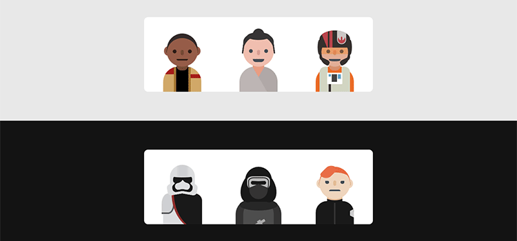 HTML+CSS Star Wars Characters