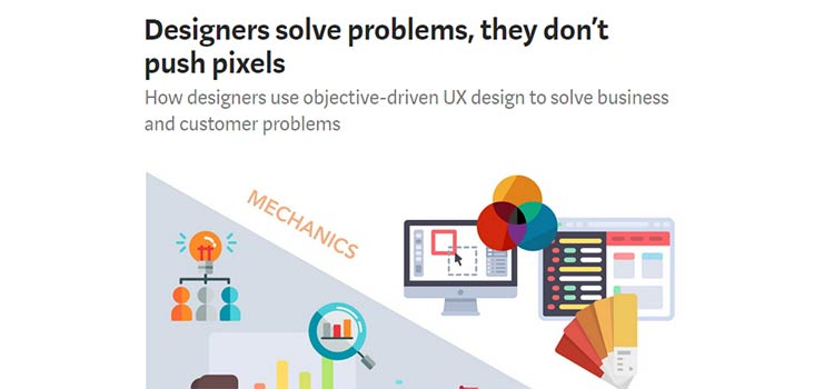 Designers solve problems, they don't push pixels