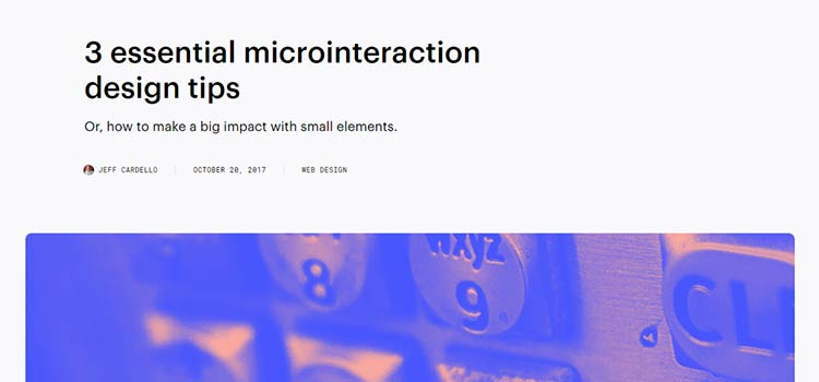 3 essential microinteraction design tips
