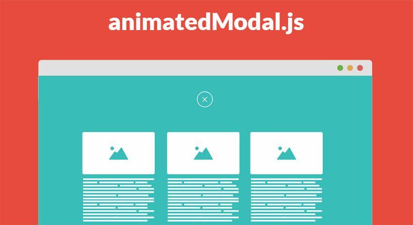 animatedmodal js plugin