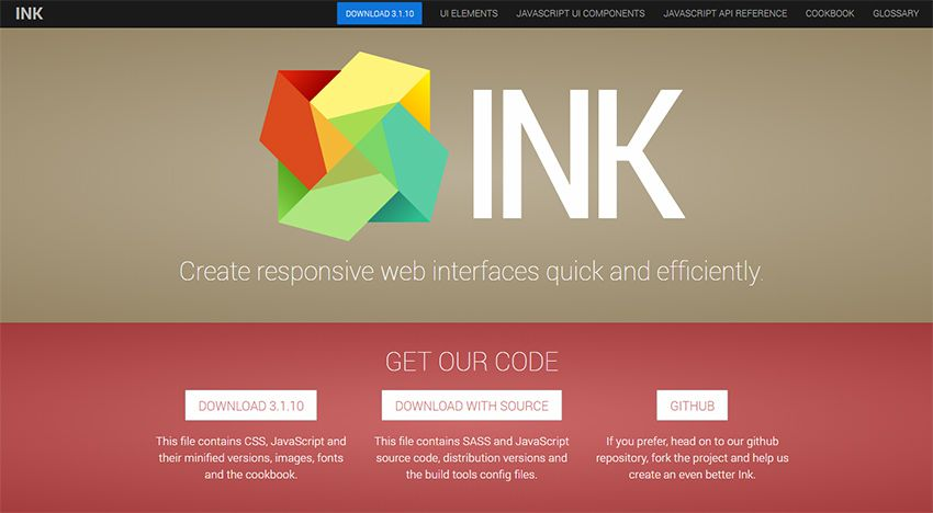 ink ui kit framework The 10 Most Popular Open Source Front-End Web UI Kits - 07 ink framework - The 10 Most Popular Open Source Front-End Web UI Kits