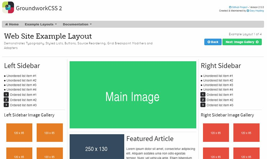 groundwork css framework The 10 Most Popular Open Source Front-End Web UI Kits - 08 groundworkcss - The 10 Most Popular Open Source Front-End Web UI Kits