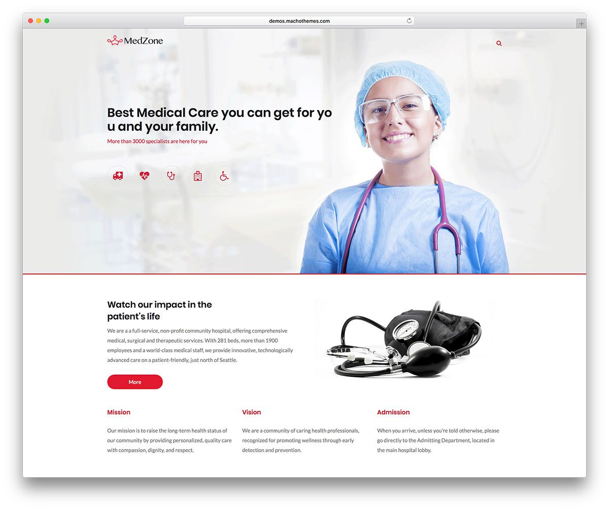 MedZone Lite Free Medical WordPress Theme