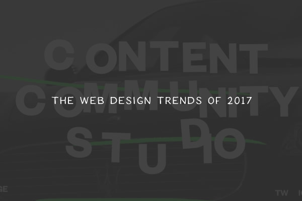 The Web Design Trends of 2017