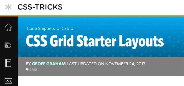 CSS Grid Starter Layouts