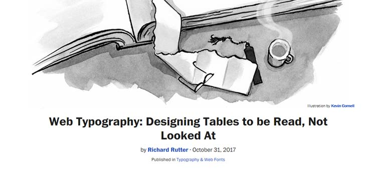 Web Typography: Designing Tables to be Read, Not Looked At
