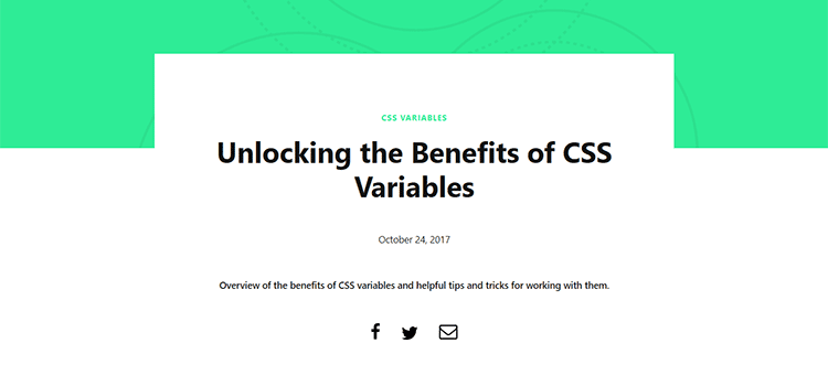 Unlocking the Benefits of CSS Variables