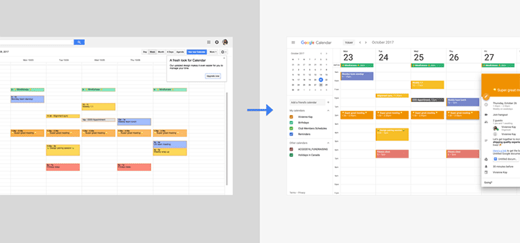 A closer look at Google Calendar's new design