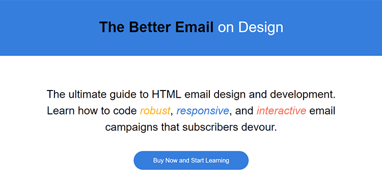 The Better Email on Design