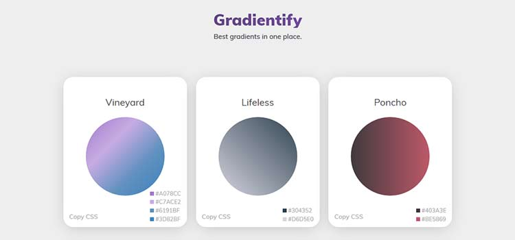 CSS Resources Free Gradientify