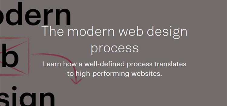 The modern web design process