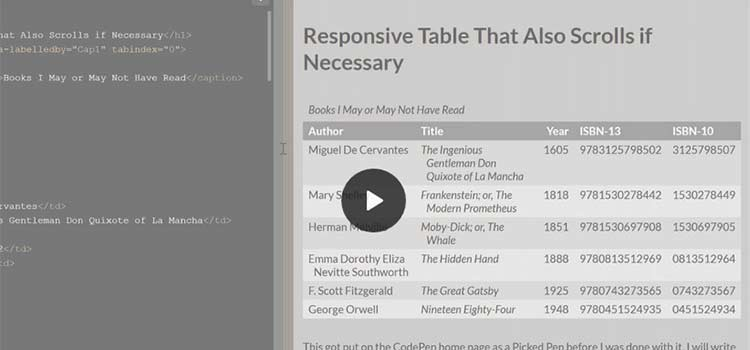 A Responsive Accessible Table