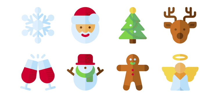 Free Christmas Icon Bundle in SVG & PNG Formats