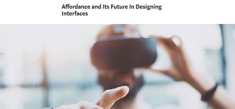 Affordance and Its Future In Designing Interfaces