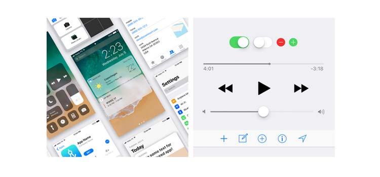 iOS 11 UI Kit