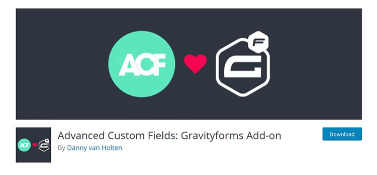 Advanced Custom Fields: Gravityforms Add-on