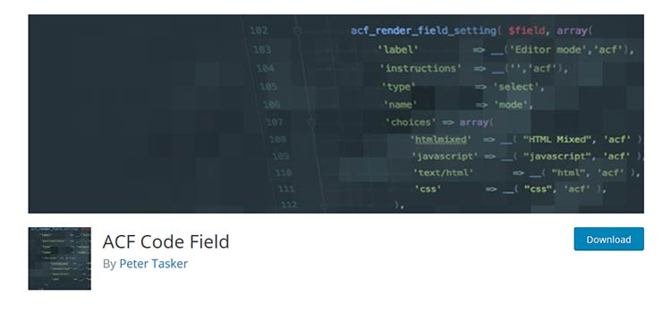 ACF Code Field