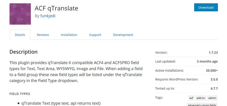 ACF qTranslate