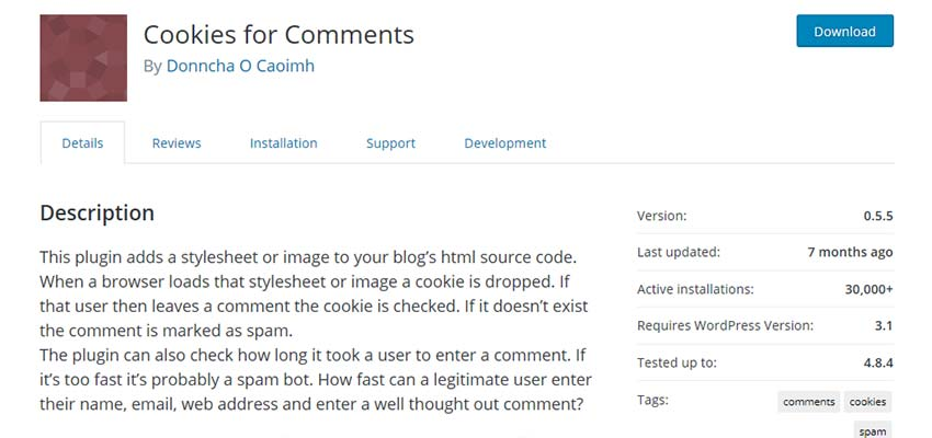 Cookies for Comments