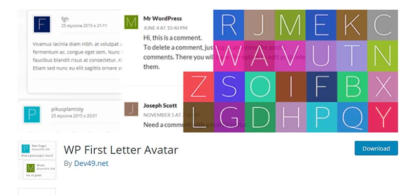 WP First Letter Avatar