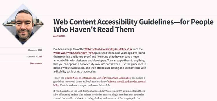 Web Content Accessibility Guidelines—for People Who Haven't Read Them