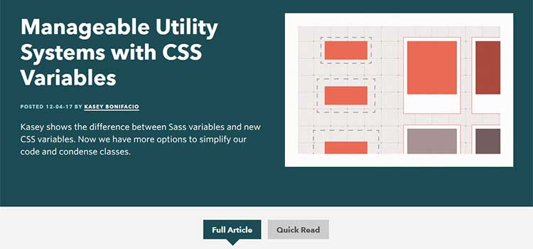 Manageable Utility Systems with CSS Variables