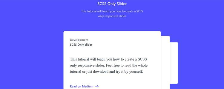 SCSS Only Slider