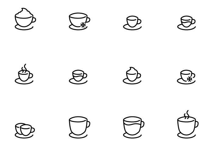 High-Quality Free Coffee Shop Icon Set (SVG, AI, EPS & PNG)