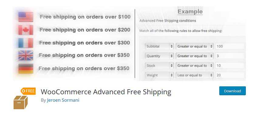 WooCommerce Advanced Free Shipping