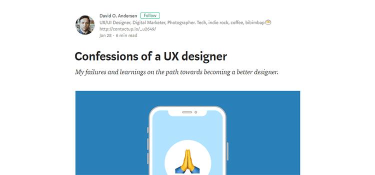 Confessions of a UX designer