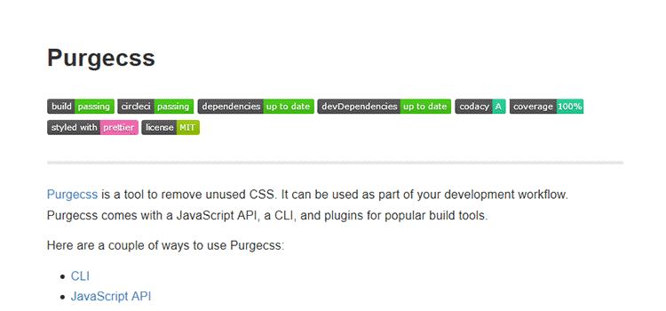 CSS Purgecss
