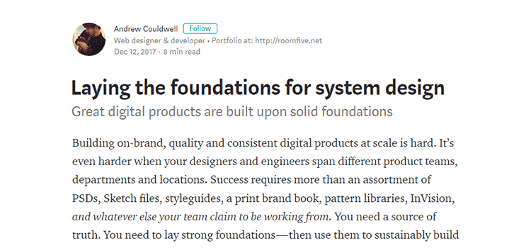 Laying the foundations for system design
