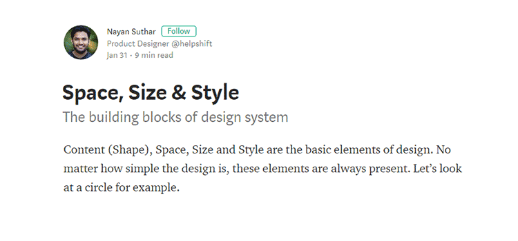 Space, Size & Style
