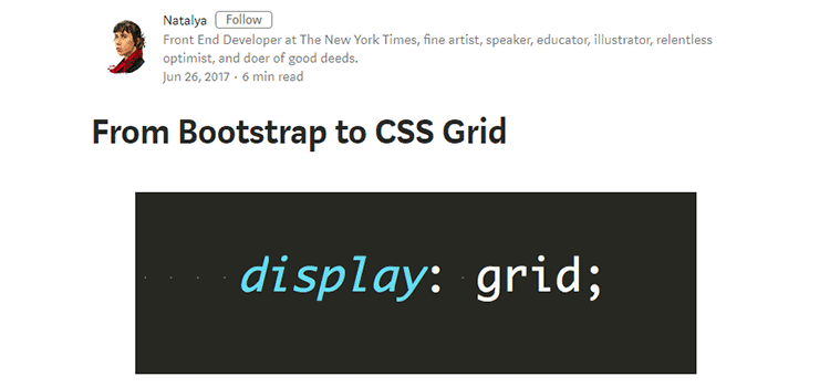 From Bootstrap to CSS Grid