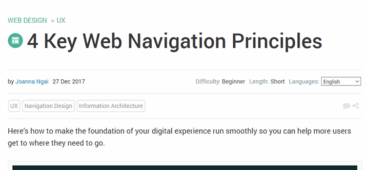 4 Key Web Navigation Principles