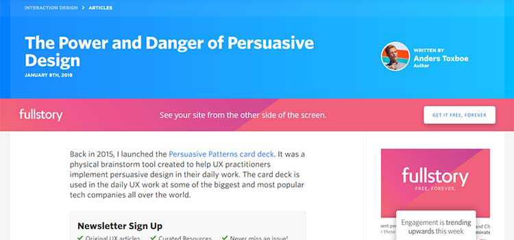 The Power and Danger of Persuasive Design