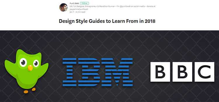 Design Style Guides to Learn From in 2018