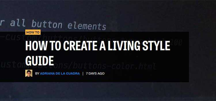 How To Create a Living Style Guide