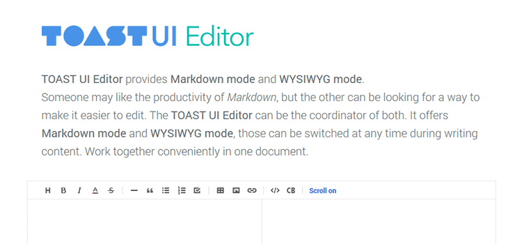 TOAST UI Editor  - weekly news for designers jan 21 18 - Weekly News for Designers № 420